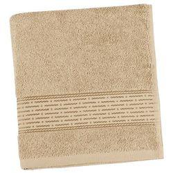 ręcznik kamilka pasek ciemnobeżowy, 50 x 100 cm marki Bellatex