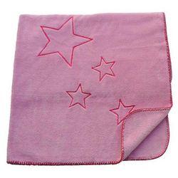 Lollipop Supermiękki kocyk softy w gwiazdki, 80x100cm, sweet lilac pink / liliowo-różowy,