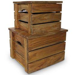 Vidaxl skrzynia do przechowywania, 2 sztuki, lite drewno z odzysku