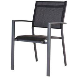 Krzesło z podłokietnikami batz czarne marki Blooma