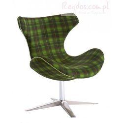 Fotel Shelly krata zielony