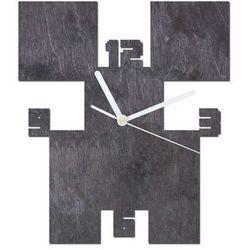 Drewniany zegar na ścianę Piksele z białymi wskazówkami (5907509933127)