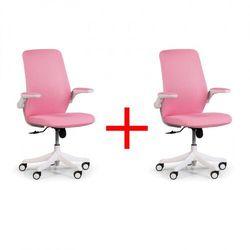 B2b partner Krzesło biurowe z siatkowanym oparciem butterfly 1+1 gratis, różowa