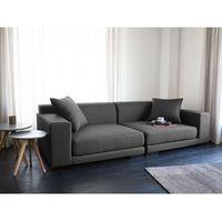 Sofa ciemnoszara - kanapa - 2 osobowa sofa tapicerowana - CLOUD