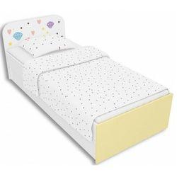 Biało-żółte łóżko dziecięce 90x200 lili 9x - 3 kolory marki Producent: elior