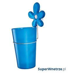 Kubek łazienkowy na szczoteczki z przyssawką Koziol A-pril niebieski
