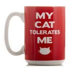 Kubek - mój kot mnie toleruje z kategorii Upominki