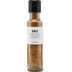 Sól, curry i kokos w butelce z młynkiem Nicolas Vahe