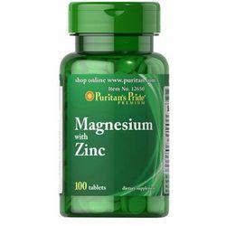 Magnez z Cynkiem / 100 tab PURITAN'S PRIDE - tabletki witaminy i minerały
