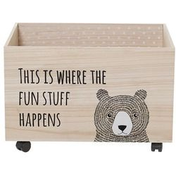 Pudełko na zabawki z misiem - Bloomingville