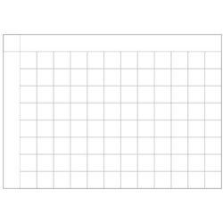 Tablica magnetyczna suchościeralna lean planer kratka 001 marki Wally - piękno dekoracji
