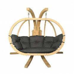 Drewniany fotel wiszący do ogrodu BOSS / 2 osobowy