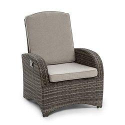 comfort siesta fotel ogrodowy regulowane oparcie ciemnonoszary marki Blumfeldt