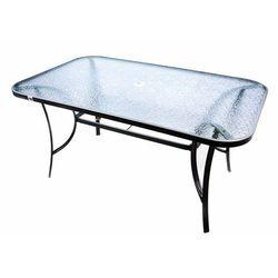 Stół ogrodowy szklany Garth 150 x 89 x 72 cm