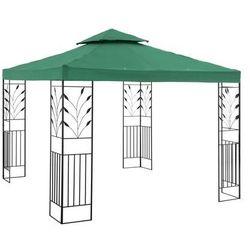 Uniprodo Pawilon ogrodowy - ornament - ciemnozielony