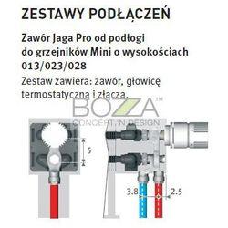 Zestaw zaworowy do podłączeń grzejników Mini (głowica biała JW) - podłączenie z podłogi (zawór i gł