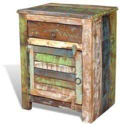 Vidaxl  szafka stolik nocny 1 szuflada drzwi (8718475868408)
