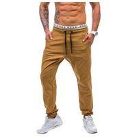 Spodnie joggery męskie camelowe denley 0449 marki Athletic