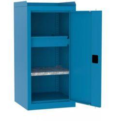 Malow Metalowa szafa warsztatowa smd 515/4 półka szuflada + rant boczny