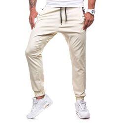 Spodnie męskie ATHLETIC 0449-1 ecru - ECRU, kolor żółty