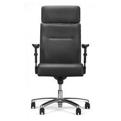 Fotel gabinetowy NEO lux pl r1b steel04 chrome - biurowy, krzesło obrotowe, biurowe