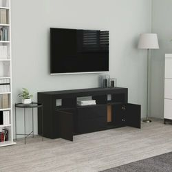 vidaXL Szafka pod TV, czarna, 120x30x50 cm, płyta wiórowa (8719883915173)