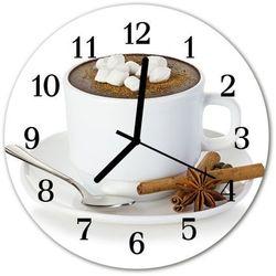 Zegar szklany okrągły czekolada marki Tulup.pl