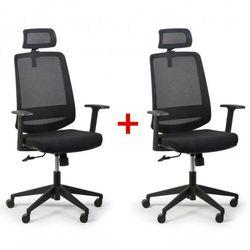 Krzesło biurowe Rich 1 + 1 GRATIS, czarny