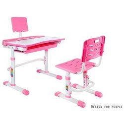 Unique SANDY różowe - Biurko dziecięce + krzesełko