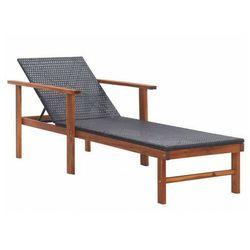Drewniany leżak czarny - granti 3x marki Elior