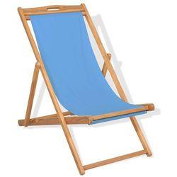 Leżak, drewno tekowe, 56 x 105 x 96 cm, niebieski marki Vidaxl