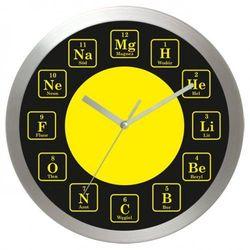 Zegar aluminiowy Czas na chemie #1