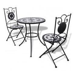 Stolik i 2 składane krzesła ogrodowe, mozaika