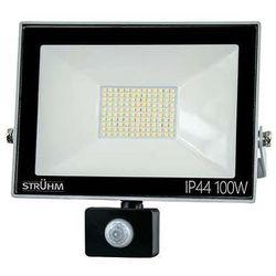 Zewnętrzna lampa ścienna kroma led 100w 03608 elewacyjna oprawa reflektorowa z czujnikiem ruchu outdoor ip44