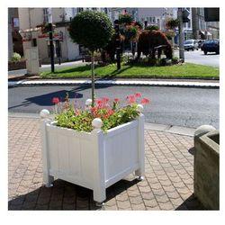 Donica Brest duża, drewno egzotyczne - 105x105 cm - oferta [0537e60e4182a6b7]