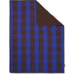 Koc piknikowy grand szachownica 120 x 170 cm brązowo-niebieska