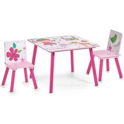Zeller Stolik dziecięcy girly + 2 krzesełka, (4003368134918)