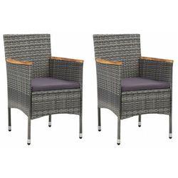 Komplet szarych krzeseł ogrodowych - emiko 4x marki Elior