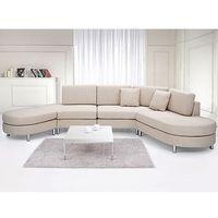 Sofa tapicerowana - kanapa z 100% poliestru beżowa - COPENHAGEN