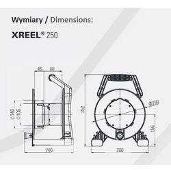 Przedłużacz Zwijany X-Reel 40M OW3x2,5 4GS z klapką IP44 (5902082051824)