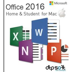 Microsoft Office Mac Home & Students 2016 EuroZone ESD PL (oprogramowanie)