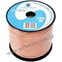 Przewód głośnikowy kabel cca 2x1,5 mm 100m marki Mpartner