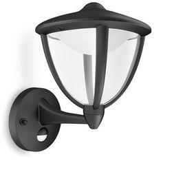 ROBIN - Kinkiet zewnętrzny wznoszący LED z czujnikiem Czarny Wys.26cm - sprawdź w Lightonline