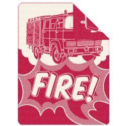 kocyk żakardowy wóz strażacki red 150x200cm marki S.oliver