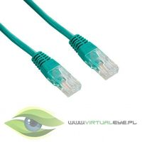 4World kabel krosowy RJ45, bez osłonki, Cat. 5e UTP, 15 m, zielony (04728) Darmowy odbiór w 21 miastach!, 47