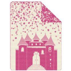 S.oliver  kocyk żakardowy pink 150x200cm (4004406291846)