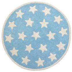 Kids concept Dywan okrągły stars niebieski