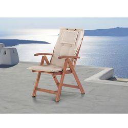 Beliani Komfortowa poducha do krzesła toscana kremowa