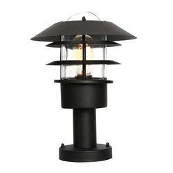 Elstead Zewnętrzna lampa ścienna helsingor helsingor pir bk ogrodowa oprawa kinkiet z czujnikiem ruchu outdoor ip44 czarny