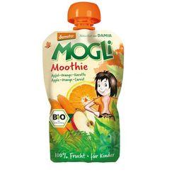Mogli (moothie owocowe, batony, napoje) Moothie przecier jabłkowy z pomarańczą i marchewką bio 100 g - mog